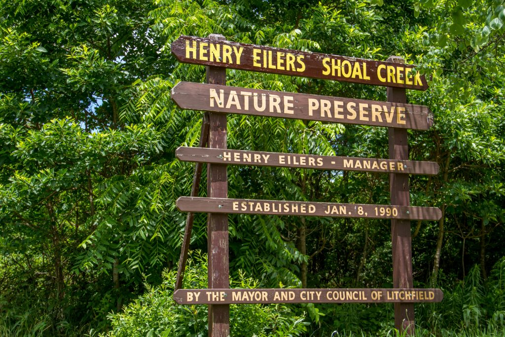 Sign at Shoal Creek Conservation Area