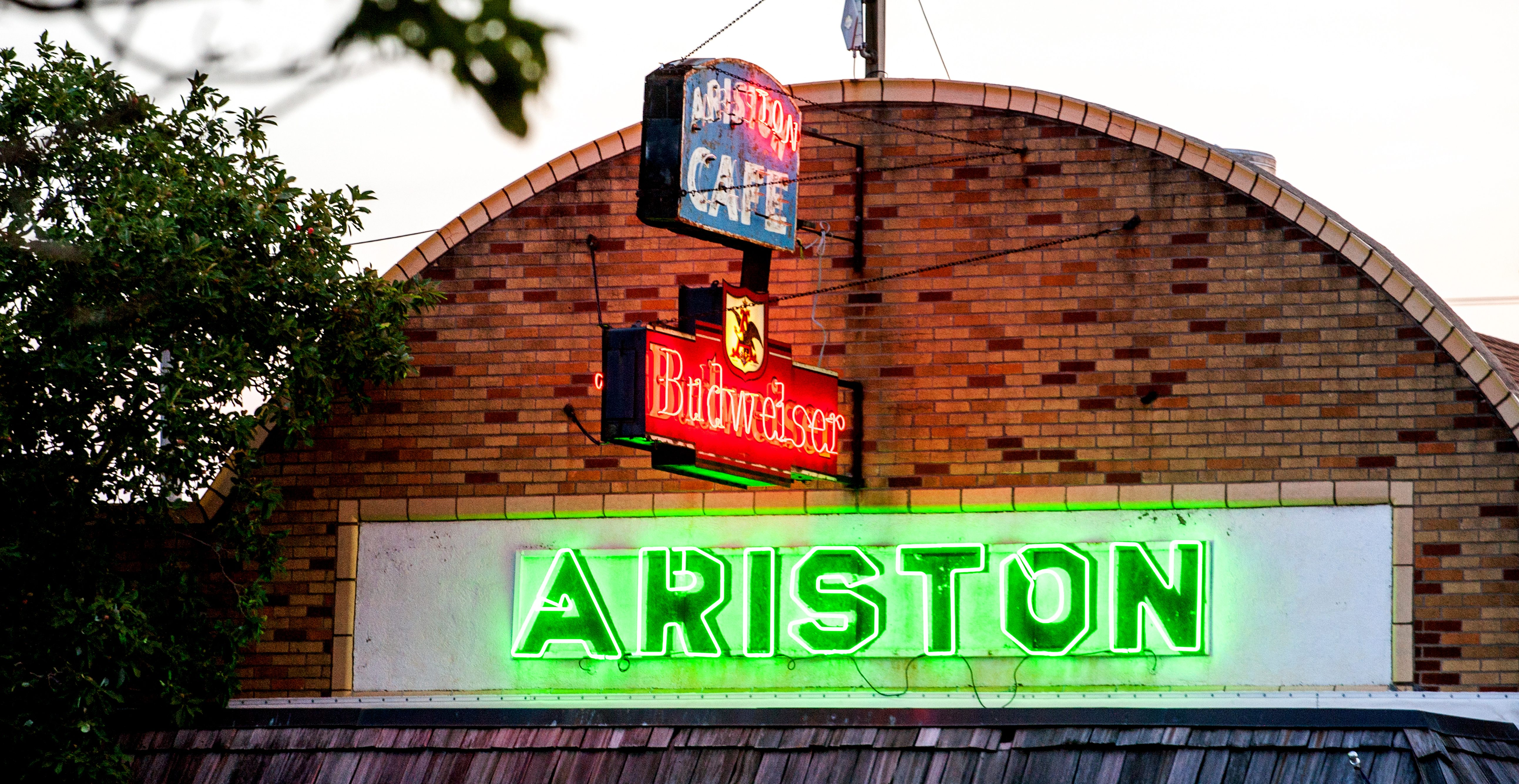 Neon lights at the Ariston Cafe