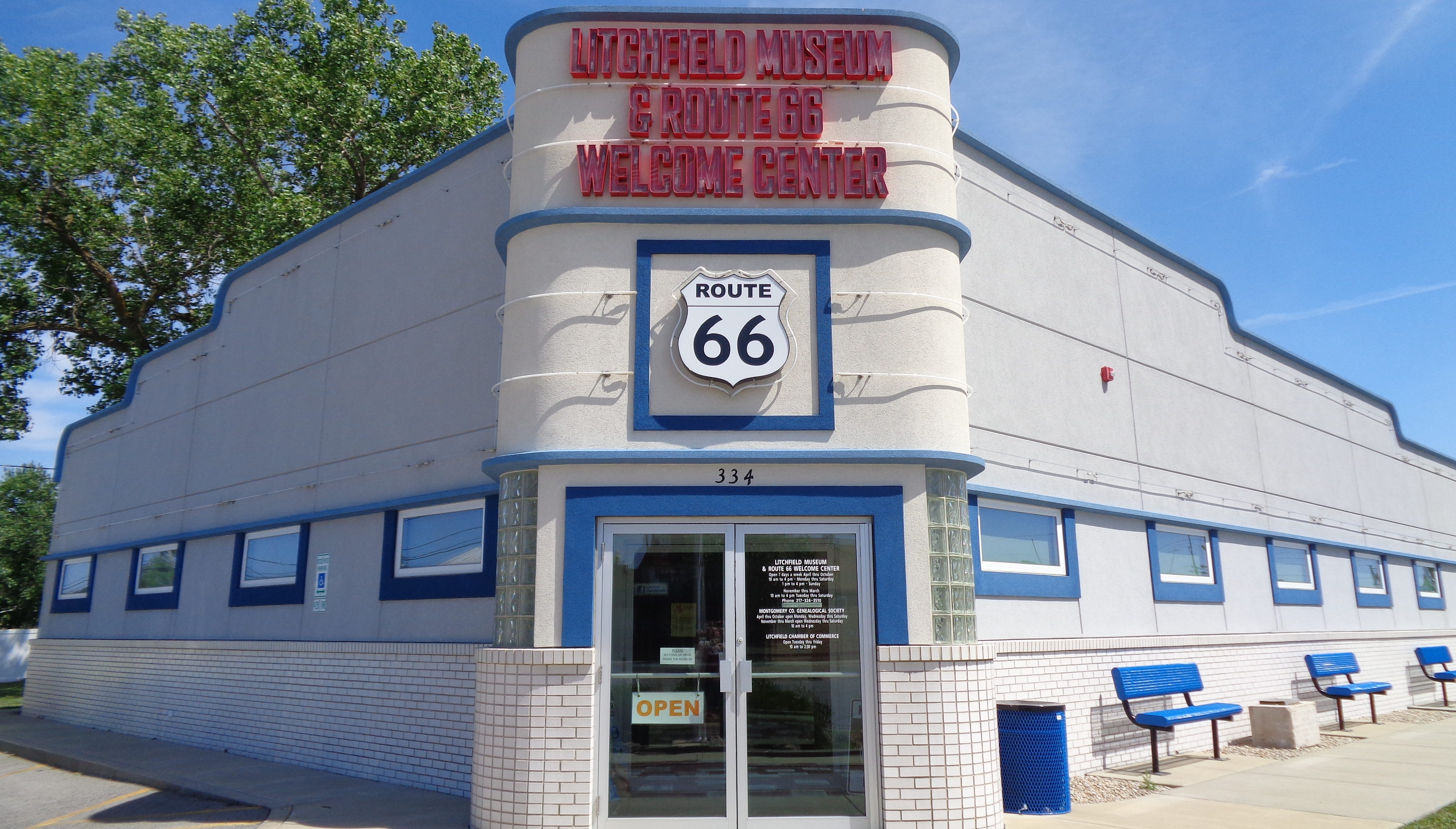 Exterior view of the Litchfield Museum & Route 66 Welcome Center