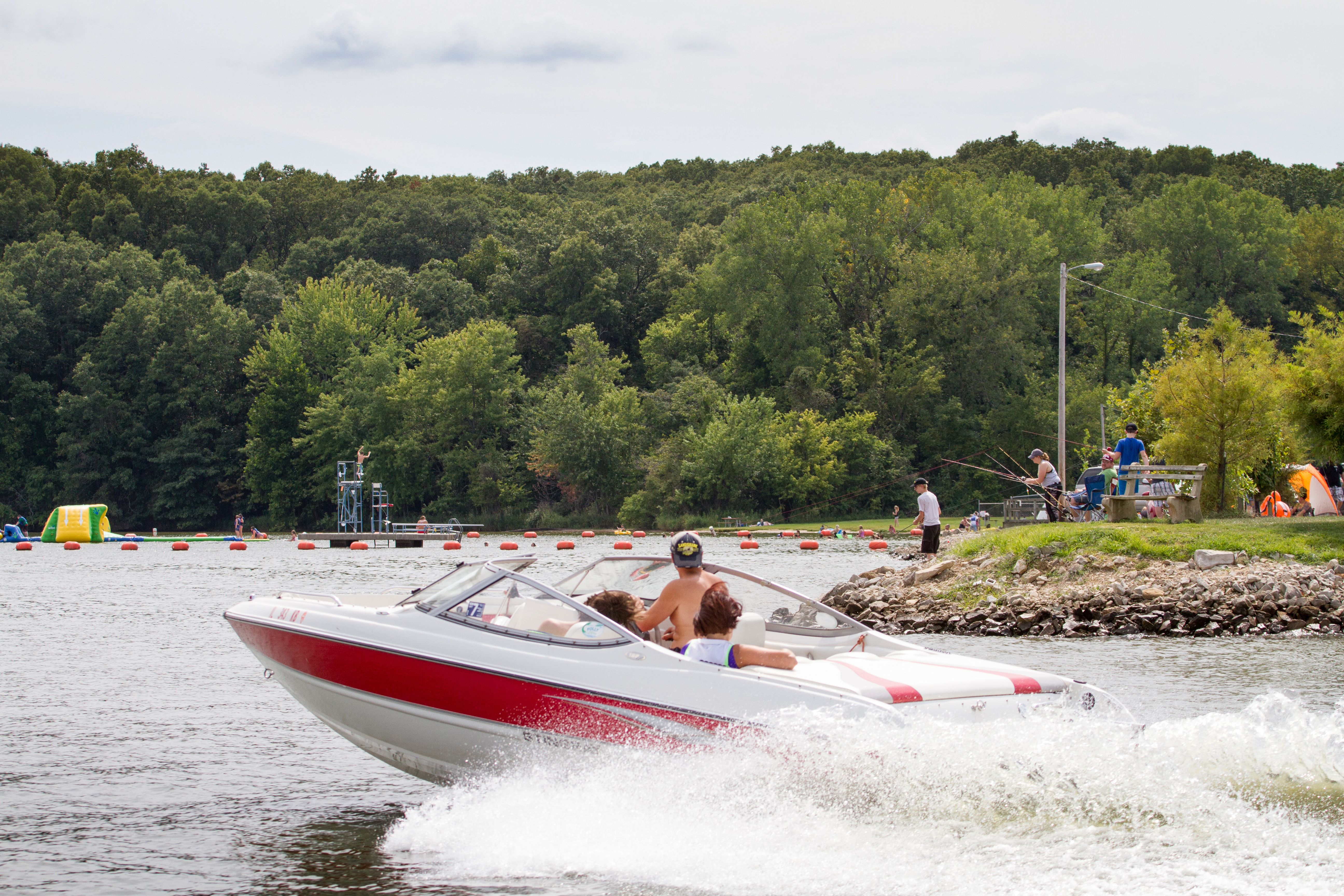 Boating at Lake Lou Yaeger is one of the top 10 things to do in Litchfield.