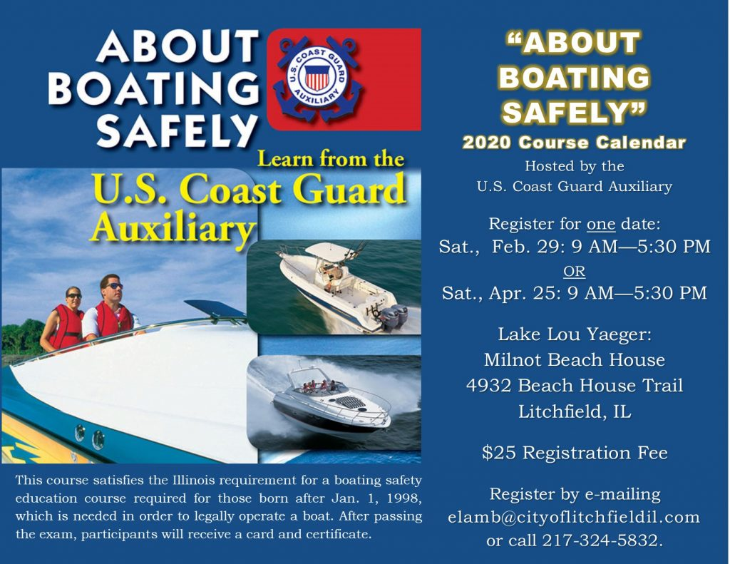 About Boating Safely Feb 29 & April 25