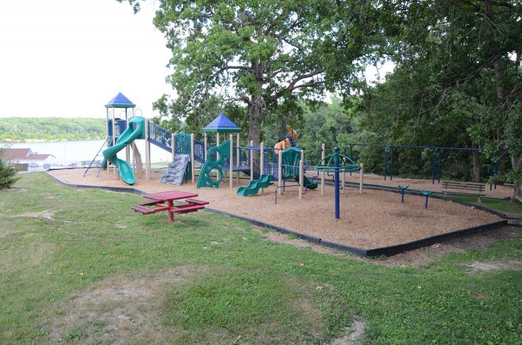 Playground at Marina 1 overlooking the lake.
