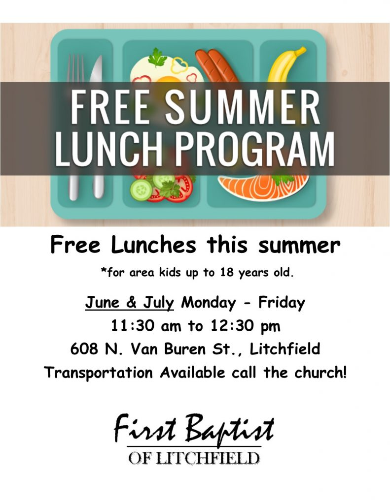 summer lunch flyer