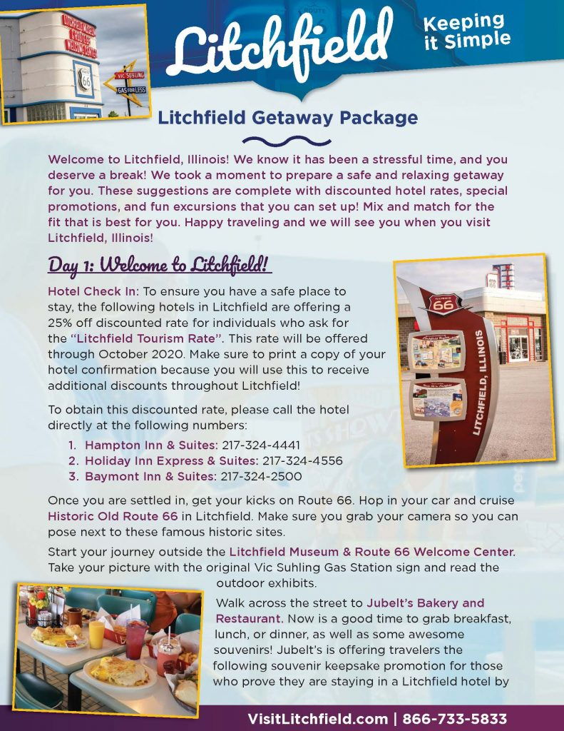 Litchfield Itinerary picture of page 1