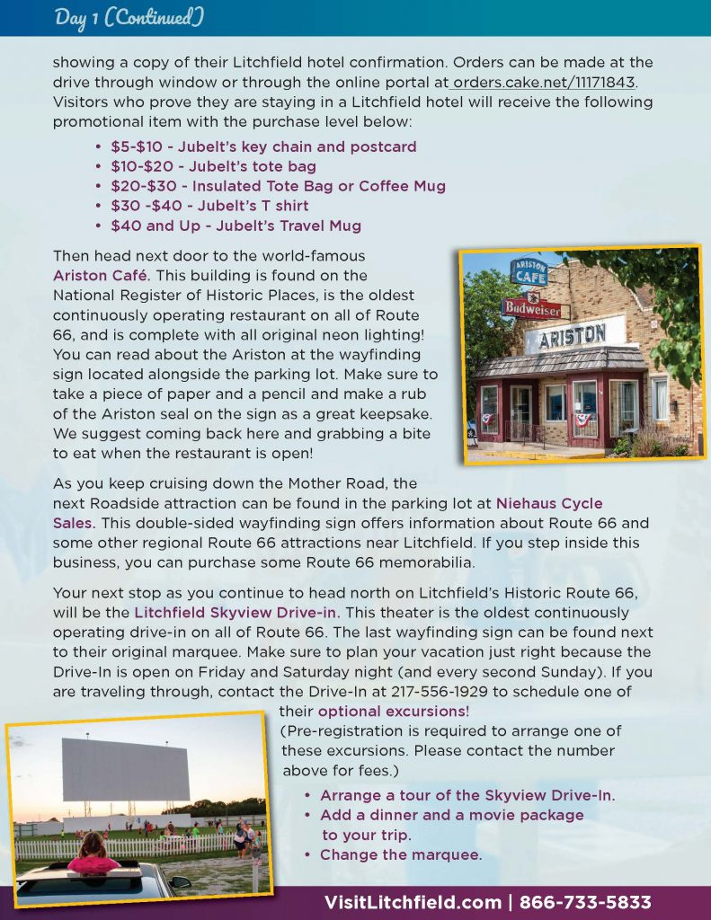 Picture of page 2 of the Litchfield Getaway Package