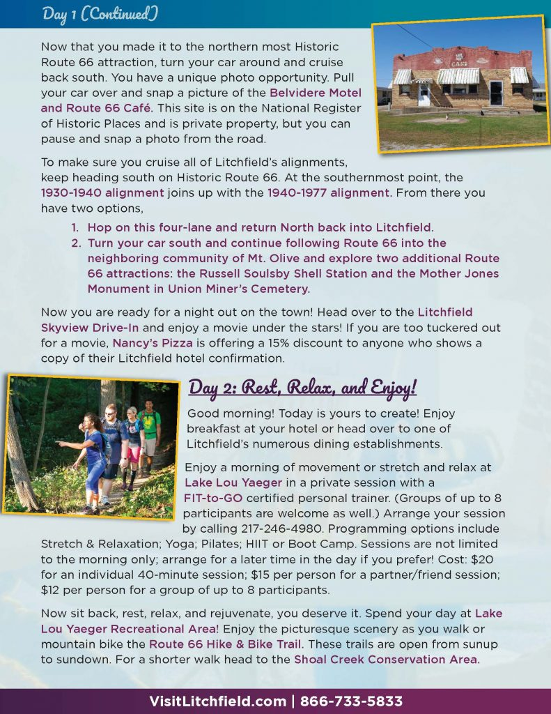 Picture of page 3 of the Litchfield Getaway Package
