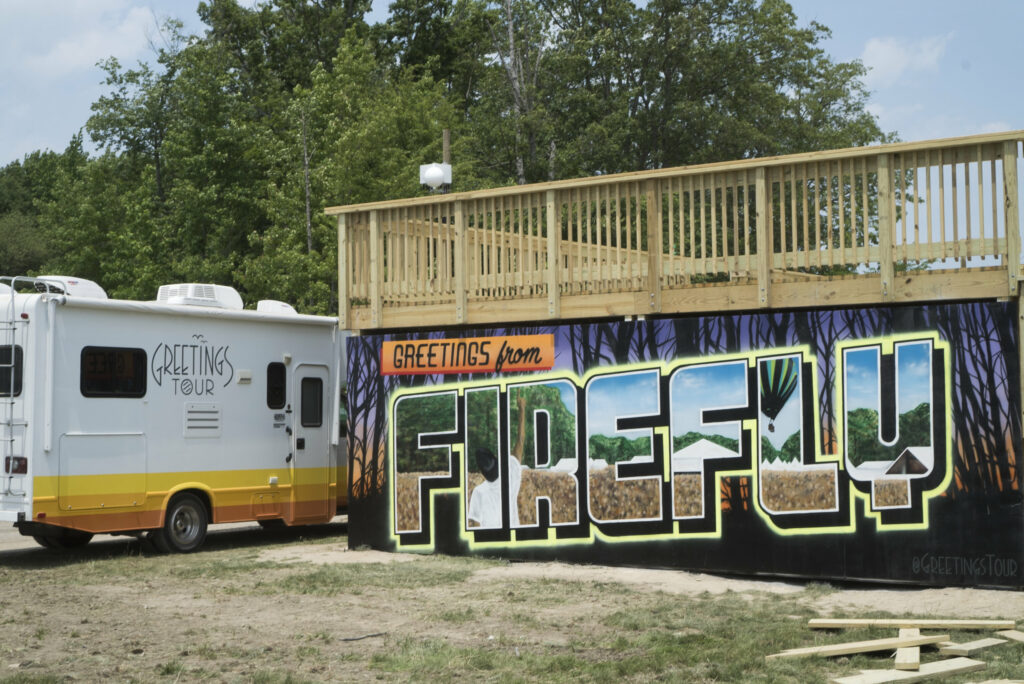 Firefly Greetings Tour Mural