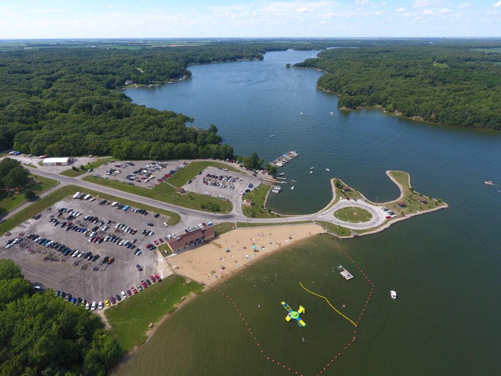 Aerial Version of Lake Lou Yaeger