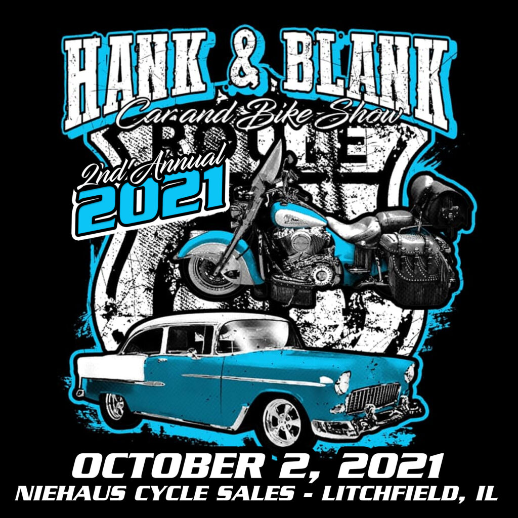2021 Hank & Blank Car Show Flyer