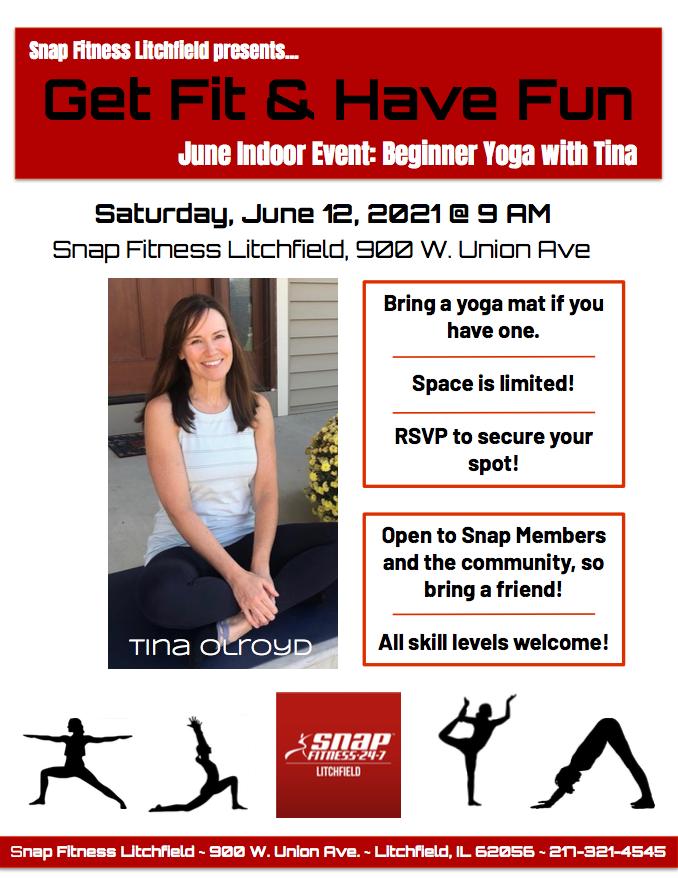 Snap June Yoga Class